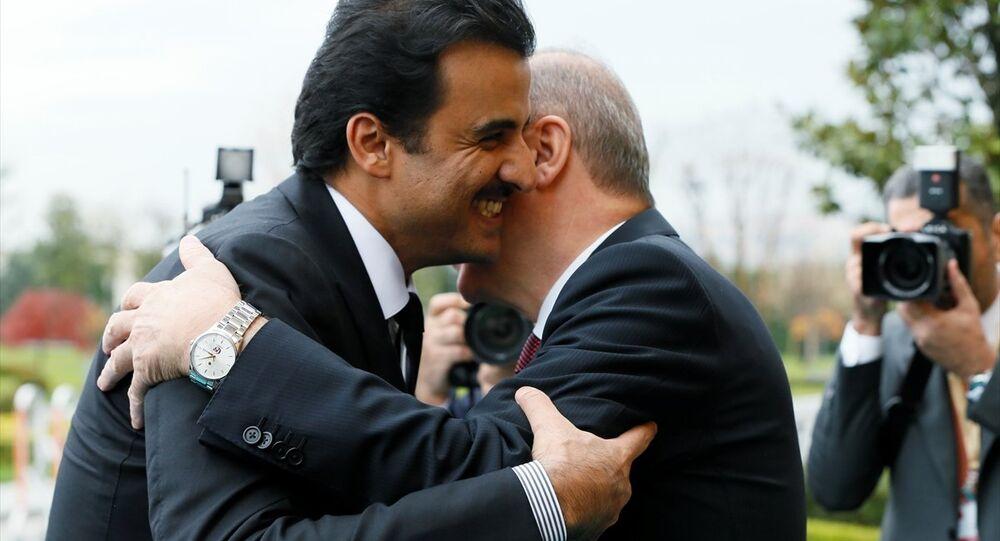Türkiye-Katar Yüksek Stratejik Komite 4. Toplantısı, Cumhurbaşkanı Erdoğan ve Katar Emiri Şeyh Temim bin Hamed Al Sani'nin katılımıyla Vahdettin Köşkü'nde gerçekleşti.
