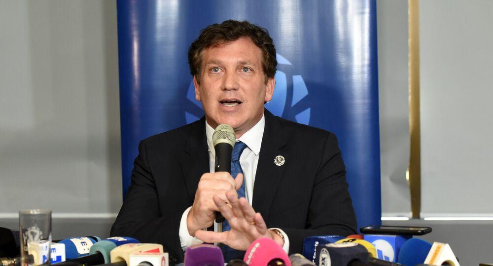 Güney Amerika Futbol Konfederasyonu (CONMEBOL) Başkanı Alejandro Dominguez
