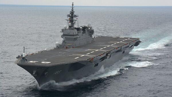 Japonya'nın Izumo sınıfı helikopter gemisi - Sputnik Türkiye