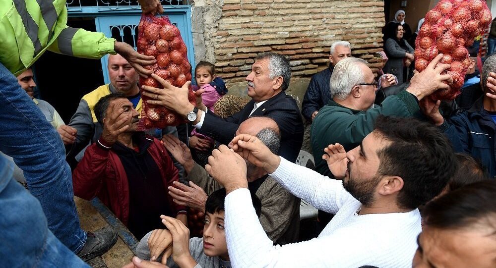 Adana, Seyhan, soğan dağıtımı