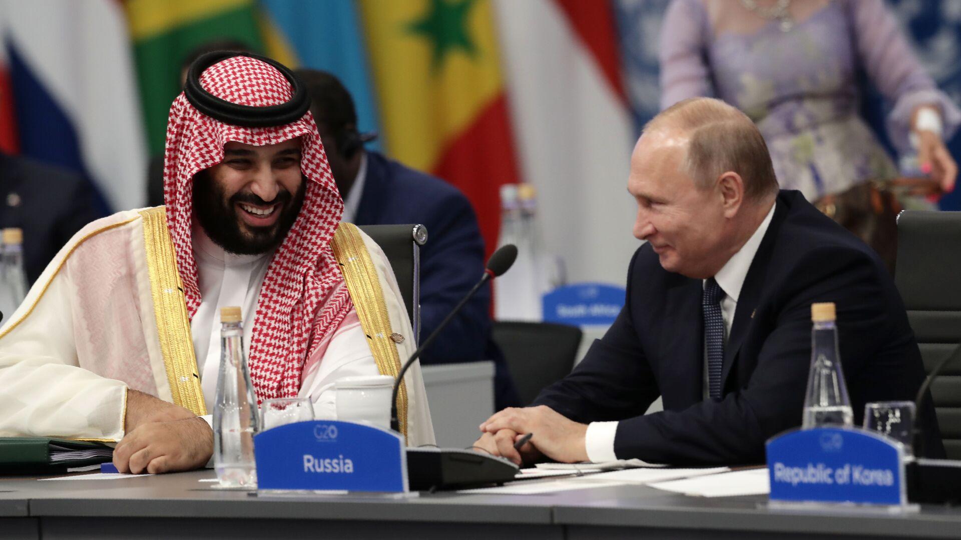 Suudi Arabistan Veliaht Prensi Muhammed Bin Selman-Rusya Devlet Başkanı Vladimir Putin - Sputnik Türkiye, 1920, 02.09.2021