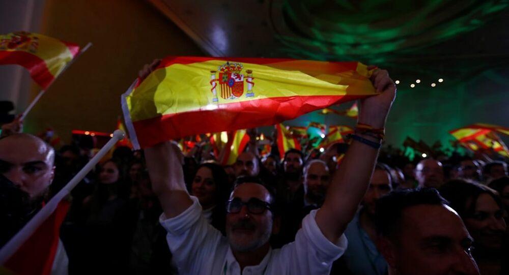 İspanya'nın güneyindeki Endülüs özerk bölgesinde yapılan yerel parlamento seçimlerinde 12 milletvekili Vox partisi destekçileri