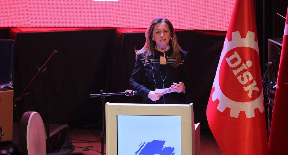 DİSK Genel Başkanı Arzu Çerkezoğlu