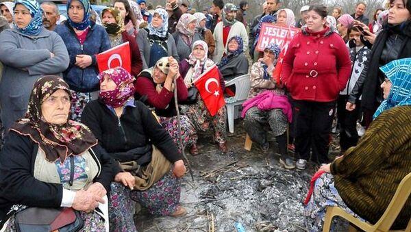 Aydın'da jeotermal santraline köylüler karşı çıktı - Sputnik Türkiye