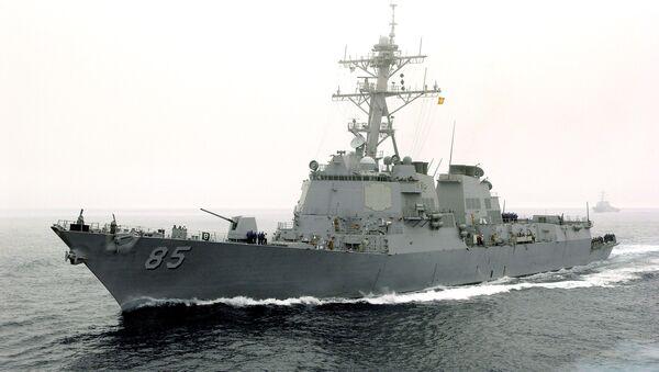 ABD'nin destroyeri Rusya Pasifik Filosu'nun üssüne yaklaştı - USS McCampbell - Sputnik Türkiye