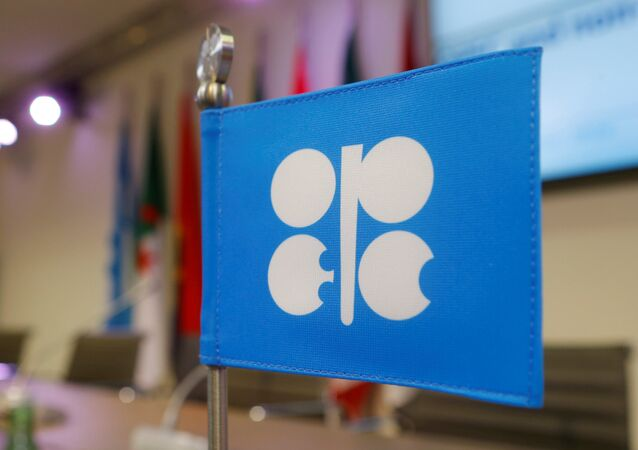A flag with the Organization of the Petroleum Exporting Countries (OPEC) logo is seen before a news conference at OPEC's headquarters in Vienna, Austria, December 10, 2016
