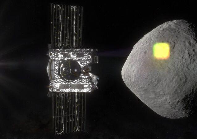 Uzay aracı OSIRIS-REx' tarafından çizielen gök taşı Bennu