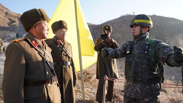 Güney ve Kuzey Kore, karşılıklı nöbet noktalarının kaldırdı - Sputnik Türkiye