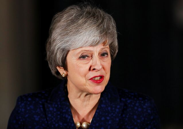 Britain's Prime Minister Theresa May speaks outside 10 Downing Street after a confidence vote by Conservative Party Members of Parliament (MPs), in London, Britain December 12, 2018.