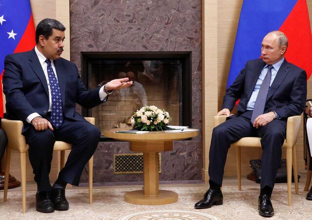 : Rusya lideri Vladimir Putin- Venezüella lideri Nicolas Maduro