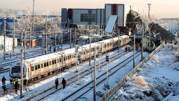 Ankara'da tren kazası - Sputnik Türkiye