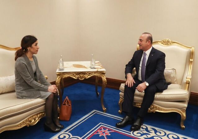 Dışişleri Bakanı Mevlüt Çavuşoğlu - Nobel Barış Ödülünü kazanan Nadia Murad
