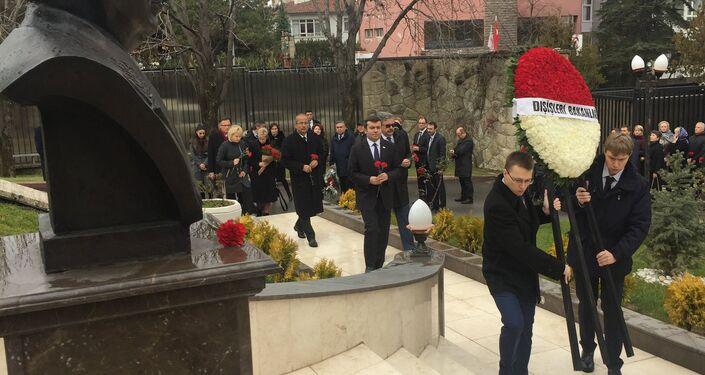 Karlov ölümünün ikinci yıl dönümünde anıldı