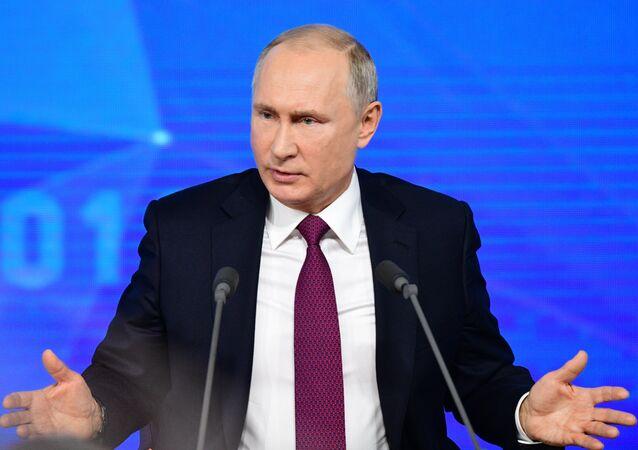 Rusya Devlet Başkanı Vladimir Putin'in basın toplantısı