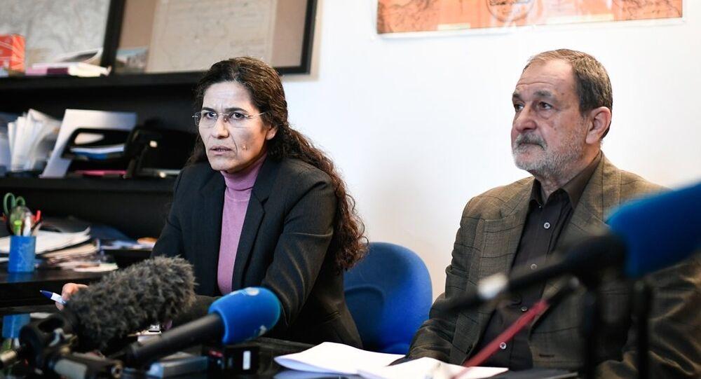 Demokratik Suriye Meclisi (DSM) Eş Başkanı Riyad Derar ve DSM Yürütme Kurulu Başkanı İlham Ehmed