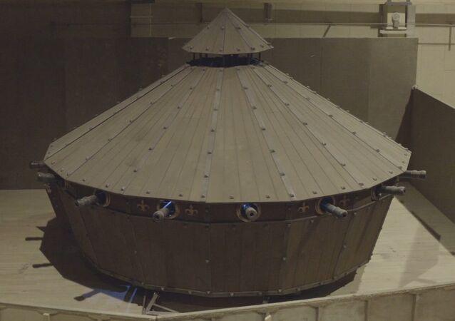 Belarus'ta 'Leonardo da Vinci tankı' yapıldı