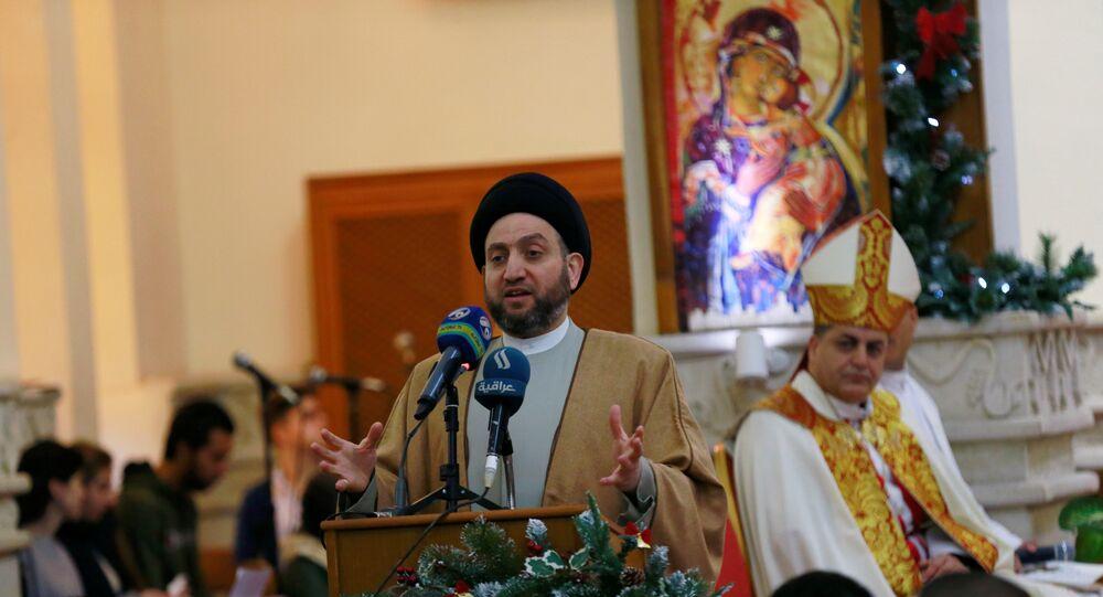 Bağdat'taki Aziz George Keldani Katolik Kilisesi'ndeki Noel ayinine, Irak İslami Yüksek Konseyi'nden ayrılıp Hikmet Hareketi'ni kuran Şii siyasetçi Ammar el Hekim de katıldı.