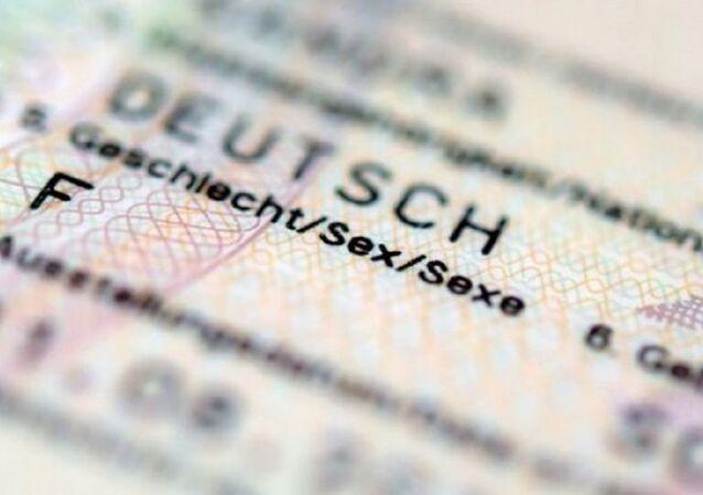 Almanya nüfus cüzdanı (cinsiyet bölümü)