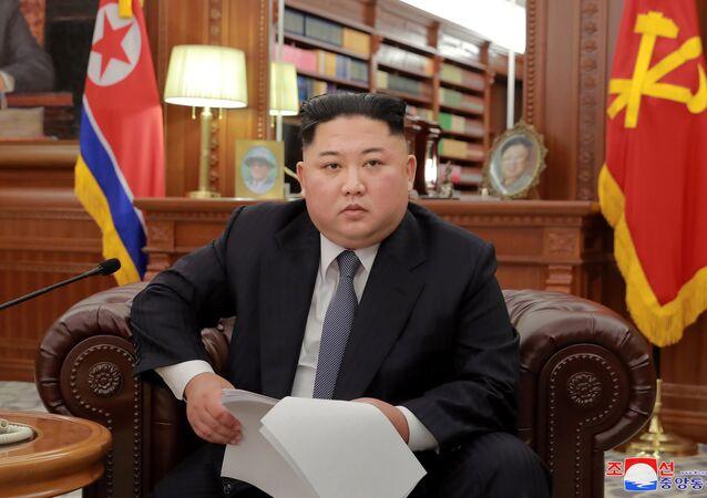 Kuzey Kore lideri Kim Jong-un, yeni yıl vesilesiyle devlet televizyonundan ulusa hitap etti.