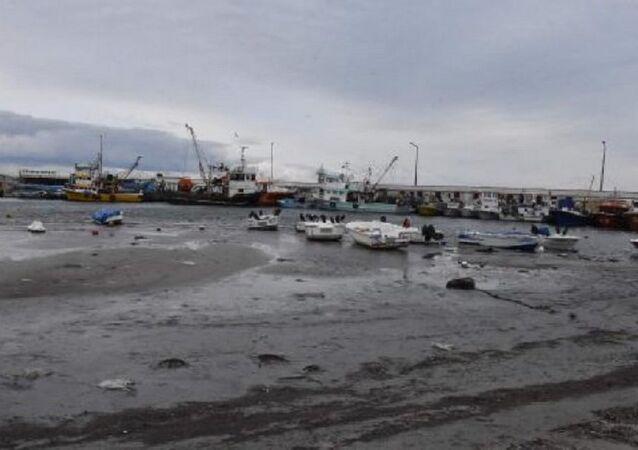 Marmara Ereğlisi'nde deniz suyu 20 metre çekildi