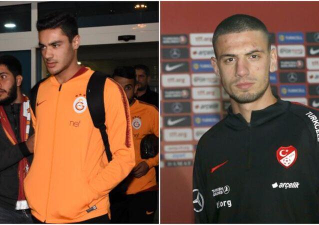 Galatasaray'ın 18 yaşındaki futbolcusu Ozan Kabak ile Aytemiz Alanyaspor forması giyen 20 yaşındaki Merih Demiral