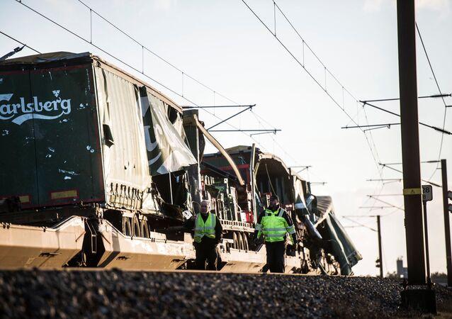 Danimarka'da tren kazası