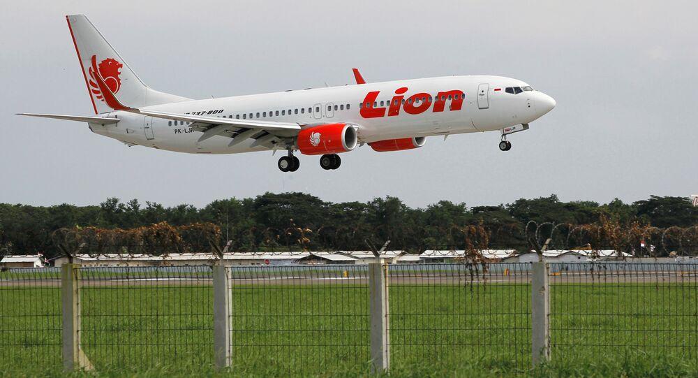 Lion Air havayollarına bağlı Boeing 737 tipi yolcu uçağı