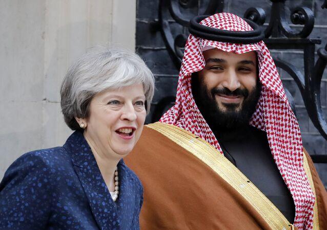 İngiltere Başbakanı Theresa May ve Veliaht Prens Muhammed bin Salman