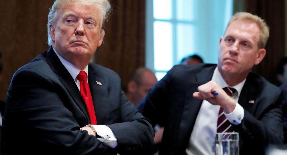 2 Ocak 2019'da Beyaz Saray'daki kabine toplantısında Trump ile Shanahan yan yana