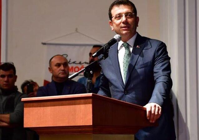 Cumhuriyet Halk Partisi (CHP) İstanbul Büyükşehir Belediye Başkan Adayı Ekrem İmamoğlu