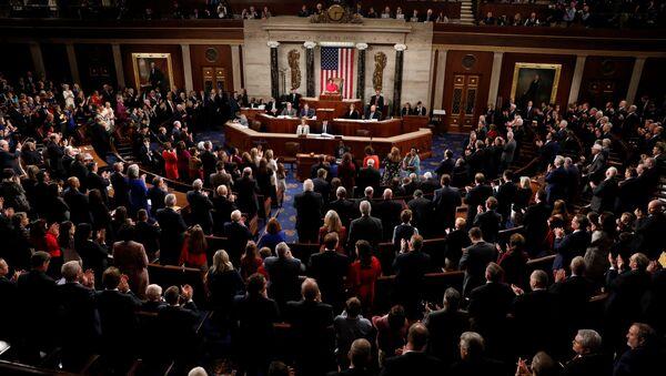 ABD Temsilciler Meclisi sözcülüğüne seçilen Nancy Pelosi'nin ilk konuşması - Sputnik Türkiye