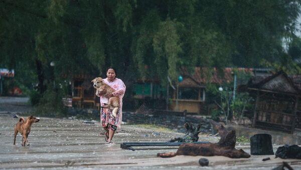 Tayland'daki Pabuk fırtınası - Sputnik Türkiye