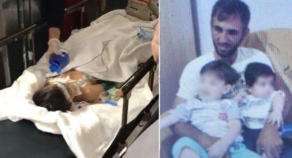 Hatay'ın İskenderun ilçesinde babası Mehmet Ali Y. tarafından dövülerek ağır yaralanan Mertcan Y., (6)