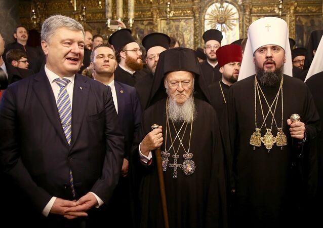 Fener Rum Patrikhanesi Patriği Bartholomeos - Ukrayna Ortodoks Kilisesi Başpiskoposu Yepifaniy Dumenko
