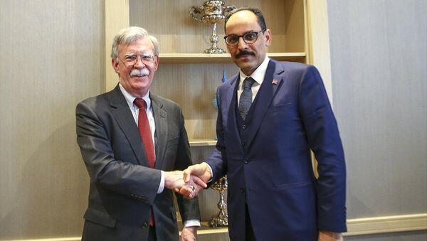 Cumhurbaşkanlığı Sözcüsü İbrahim Kalın- Beyaz Saray Ulusal Güvenlik Danışmanı John Bolton  - Sputnik Türkiye