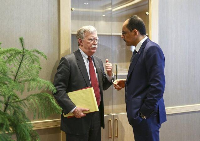 Cumhurbaşkanlığı Sözcüsü İbrahim Kalın ve Beyaz Saray Ulusal Güvenlik Danışmanı John Bolton