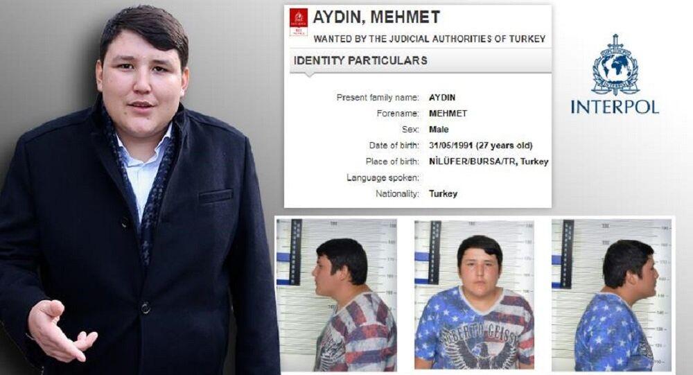 Mehmet Aydın, Interpol listesinde