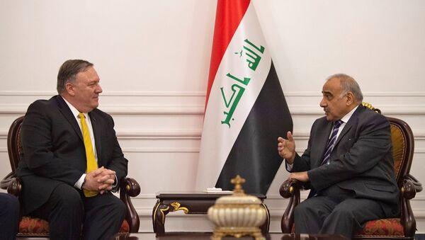 ABD Dışişleri Bakanı Mike Pompeo ve Irak Başbakanı Adil Abdulmehdi - Sputnik Türkiye