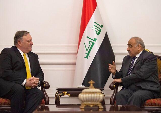 ABD Dışişleri Bakanı Mike Pompeo ve Irak Başbakanı Adil Abdulmehdi