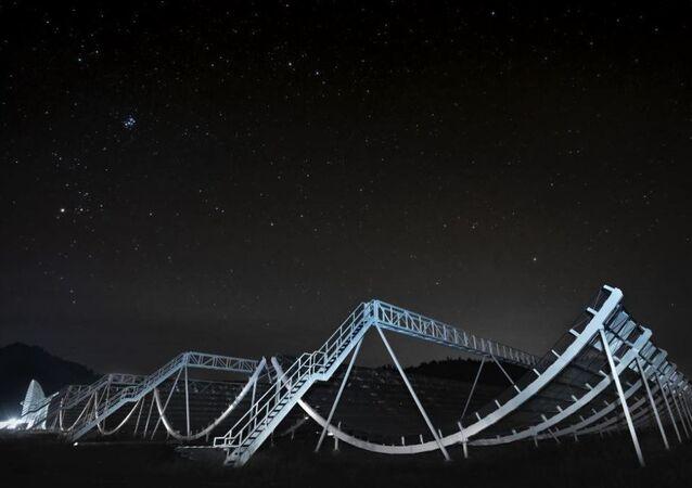 CHIME (Kanada Hidrojen Yoğunluğu Haritalama Deneyi) isimli interferometrik radyo teleskobu