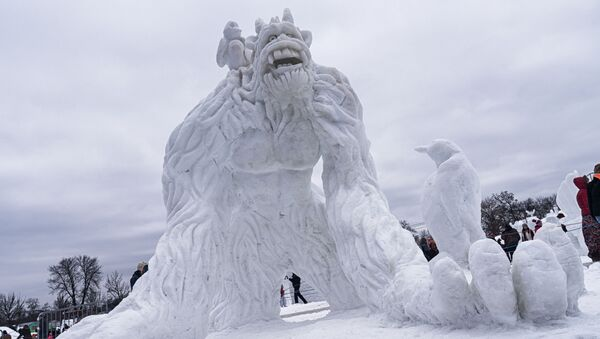 Dünyadan göz alıcı kardan heykeller - Sputnik Türkiye