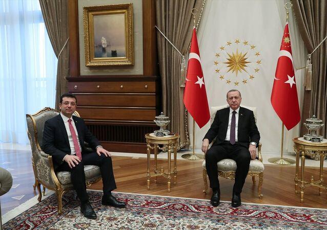 Erdoğan ile görüşen İmamoğlu