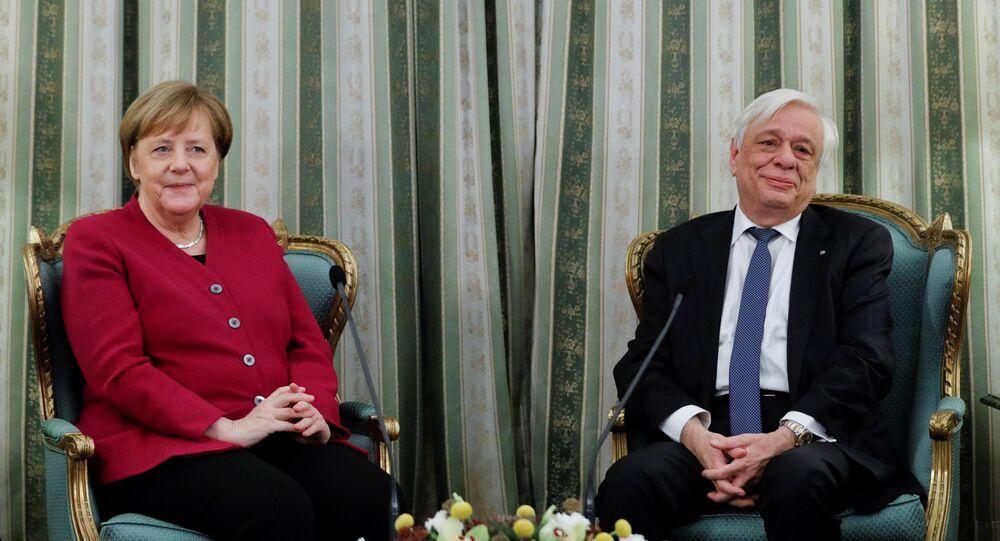 Prokopis Pavlopoulos - Angela Merkel