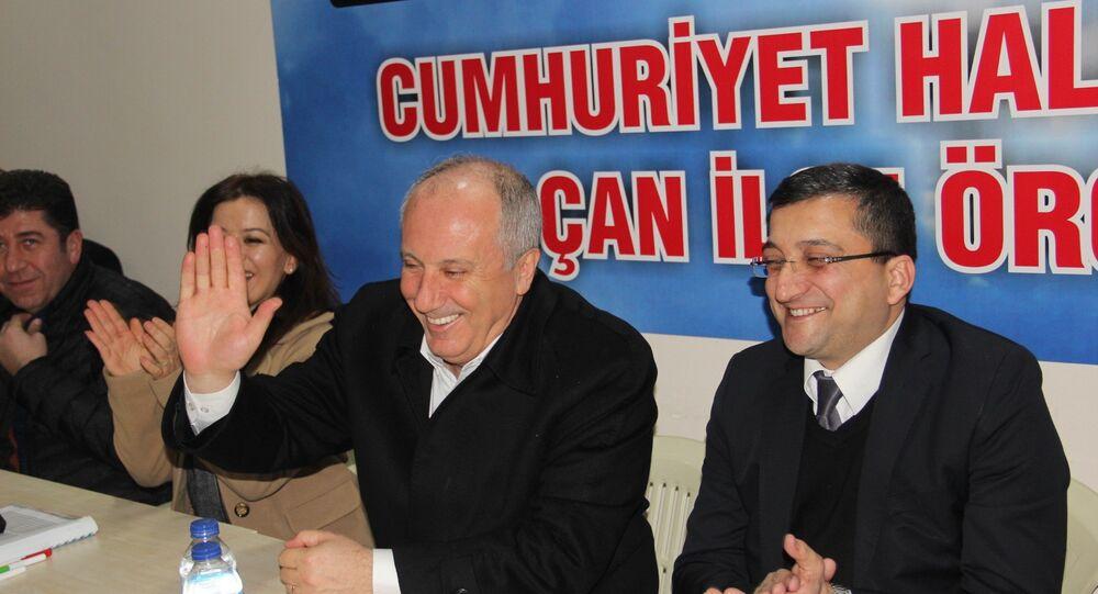 """Çanakkale'nin Çan ilçesinde CHP teşkilatını ziyaret eden Muharrem İnce, """"Türkiye aynı esnaf lokantası gibi dedi."""