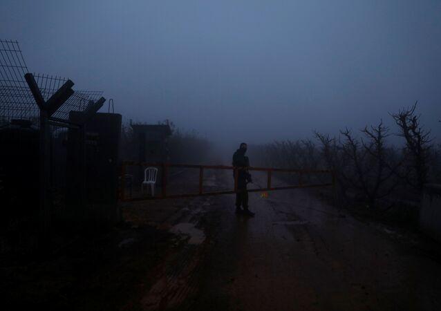 Lübnan - İsrail sınırı İsrail askeri