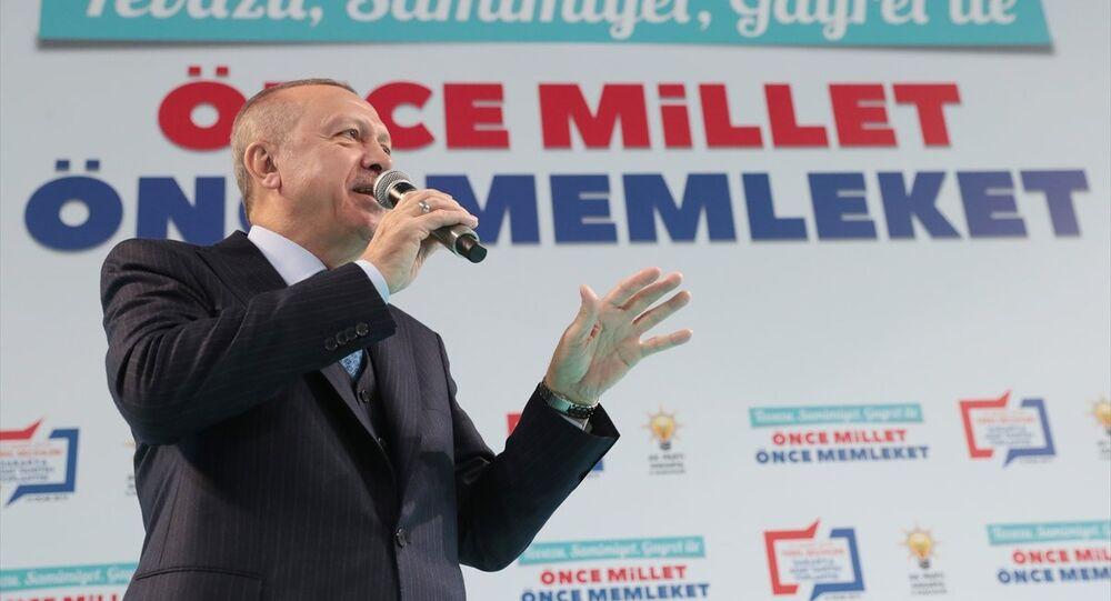 Cumhurbaşkanı ve AK Parti Genel Başkanı Recep Tayyip Erdoğan, Serdivan Spor Salonu'ndaki AK Parti Sakarya Belediye Başkan Adaylarını Tanıtım Toplantısına katılarak konuşma yaptı.