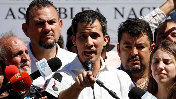 Venezüella Ulusal Meclis Başkanı Juan Guaido - Sputnik Türkiye
