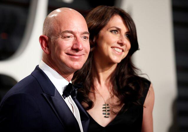 89. Akademi Ödülleri - Oscarlar Vanity Fair Partisi - Amazon CEO'su Jeff Bezos ile eşi MacKenzie Bezos - 26/02/17