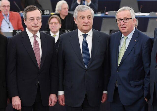 Avrupa Merkez Bankası (ECB) Başkanı Mario Draghi- Avrupa Parlamentosu (AP) Başkanı Antonio Tajani-Avrupa Birliği Komisyonu Jean-Claude Junker