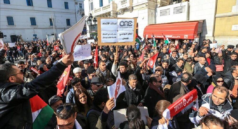 Tunus'ta protestolar